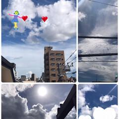 今日の雲 最近は雲が沢山出てる空なので面白い⁉️ …