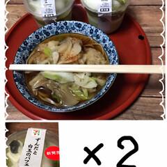 ミニミニ天ぷら蕎麦/セブンのずんだと白玉パフェ リミ友さんがあまり甘過ぎないずんだ白玉が…