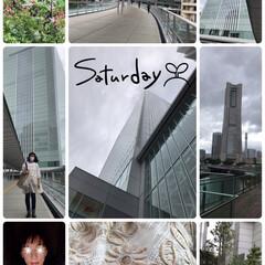 本日のファッション/本日のお出かけ 今日は新しい高層ビル🏢横浜市役所にチラッ…