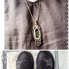 今日のファッション 今日のお買い物はこれで❣️ 紫色の靴の色…