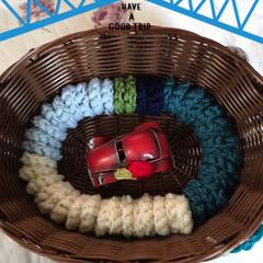 命を守るステイホーム🏠週間/コロナ退散‼️/コイル編み 本日のコロナ退散‼️願いながら編んだコイ…