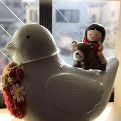 百均/端午の節句熊に跨る金太郎人形/Seria seriaで熊にまたがる金太郎さんを見つ…(2枚目)