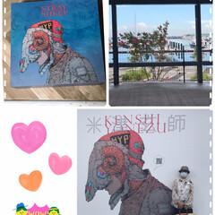 米津玄師さんの壁画/三井アウトレットパーク横浜ベイサイド 主人を仕事場から呼び出しホームセンターに…