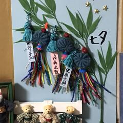 七夕飾り🎋/ハンドメイド 2ヶ月前に季節ものを飾るコーナーに七夕飾…(1枚目)