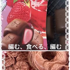 麻糸でコイル編み ペールべージュのような麻糸でコイル編み編…(1枚目)