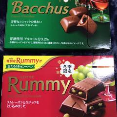 洋酒入りチョコ 昨日のチョコミントさんのお酒入りチョコレ…(1枚目)