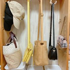 バッグ収納/収納/簡単/おしゃれ  バッグ類の収納です!  ほとんどのバッ…