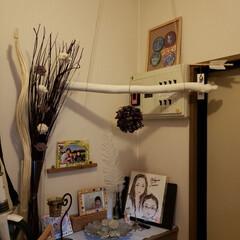 流木リメイク/海/玄関インテリア/DIY/おでかけ/クリスマス 夏に海で拾った流木💗 虫がでないように、…