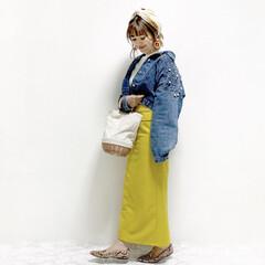 ファッション イエロー×ブルー💛  @ranp_120…