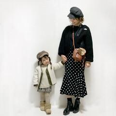 3歳/ママ/キッズコーデ/サマンサタバサ/西松屋/ザラ/... #白黒リンクコーデ  久しぶりにアクアパ…