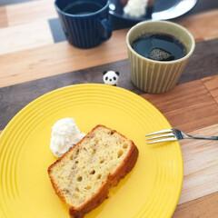 おうちカフェ バナナケーキとコーヒー☕  午後のおうち…(1枚目)