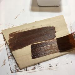 エクステリアカラー ブラウン  水性着色剤 ウッドアトリエ   和信ペイント(Washi Paint)(ニス、ステイン)を使ったクチコミ「LIMIA 和信ペイントモニターに当選し…」(5枚目)