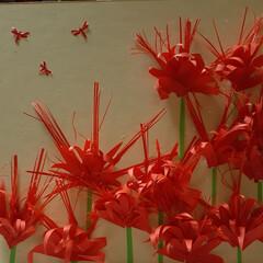 呉竹 色紙 奉書1枚 LA21-10(消しゴム)を使ったクチコミ「そろそろ咲き出すかなぁ。と 曼珠沙華をイ…」