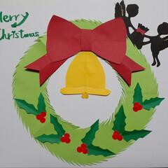壁飾り/12月の色紙/ペーパークラフト/リミとも部/リミとも部1期生/ハンドメイド ホントに連投すいません💦💦  クリスマス…