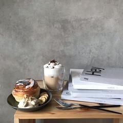 おうちカフェ/おうちcafé/スイーツ女子/おうちスイーツ/豆乳ラテ/豆乳レシピ/... おうちでcafeごっこ♡  今ハマってい…