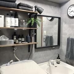 アンチ ブレミッシュ マスク(パック)を使ったクチコミ「わが家の洗面所𓂃⑅  元々は賃貸特有の洗…」