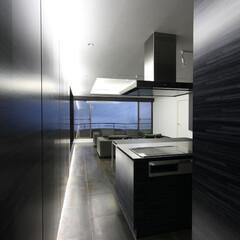 別荘/建築家/セカンドハウス/設計事務所/熱海/週末住宅/... 熱海のヴィラ|エントランスからの眺め