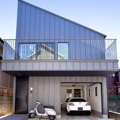 住宅/家づくり/ガレージ/ガレージハウス/設計/建築/... 八千代の住宅|建物外観