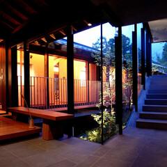 別荘/設計事務所/建築家/糸島 雷山の別荘|エントランスホール