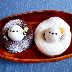 北海道の野鳥/ドーナツ/シマエナガ シマエナガちゃんドーナツです✨ 可愛いの…