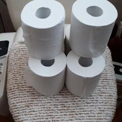 買い占め反対/トイレ事情/トイレットペーパー 現在のトイレットペーパー備蓄量! 今日1…