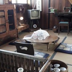 ガーデン雑貨/机/昭和レトロ/木造校舎/リサイクルショップ/雑貨屋さん 知人から教えてもらった雑貨屋さん(リサイ…