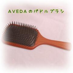 アヴェダ AVEDA パドルブラシ(ヘアブラシ、くし)を使ったクチコミ「AVEDAのパドルブラシ  結構大きめの…」