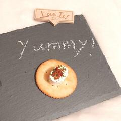 BRUNO マルチスレート ロング 幅40×奥行13×高さ0.6cm) | IDEA INTERNATIONAL(皿)を使ったクチコミ「BRUNOのマルチスレートプレートです。…」(2枚目)