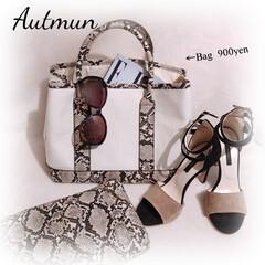 ポーチ/プチプラ/秋コーデ/パイソン柄/バッグ/しまむら/... 色違いで購入したバッグ こちらは秋に使え…