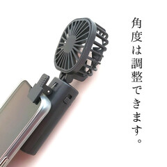 卓上扇風機 卓上ミニファン 二重ファン 大風量 ミニ扇風機USB扇風機 持ち運び便利なUSB扇風機 LIANG 角度調節可能 2段階風量調節 バックケ(米びつ)を使ったクチコミ「スマホにつける⠀ ミニ扇風機!⠀ ⠀ 楽…」(7枚目)