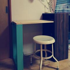 勉強机diy/DIY/ニトリ 初めてのDIY。 ニトリのカラーボックス…