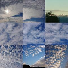 雪山/雲/青空 青空と雲  高速道路から見た遠くの山には…