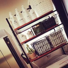 100均/セリア/ダイソー/北欧インテリア/ニトリ 洗濯機の上のスペースを利用して使いやすく…