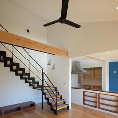 株式会社感動/注文住宅/木造住宅/木の家 袖壁を出した外観はシャープなデザイン。 …(1枚目)