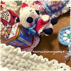 パンダちゃん/サンタパンダちゃん/編み物/あみぐるみ/クリスマス/かぎ針編み/... お久しぶりです( ˶˙ᵕ˙˶ )  何年…(2枚目)