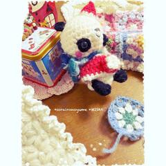 パンダちゃん/サンタパンダちゃん/編み物/あみぐるみ/クリスマス/かぎ針編み/... お久しぶりです( ˶˙ᵕ˙˶ )  何年…(1枚目)