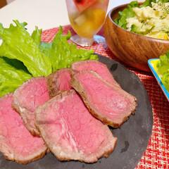 ローストビーフ/時短レシピ/手抜き/ほったらかし/肉/パーティ/... うちは最近、ローストビーフにハマっていま…