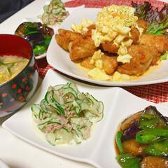 おうちごはん/チキン南蛮/高タンパク/うちの定番料理 チキン南蛮( ◠‿◠ ) タルタルソース…