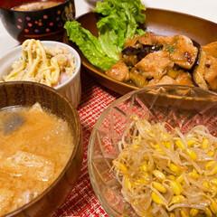 ダイエット/おうちごはん/低糖質/うちの定番料理 茄子と鶏肉のポン酢炒め おからポテトサラ…
