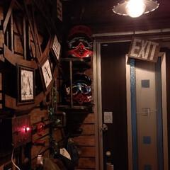 アンティーク時計/玄関リノベーション/スチームパンク/玄関板壁/玄関リメイク/玄関あるある/... やっと本来の目的(玄関にある帽子掛け製作…