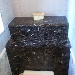 マスキングテープ/腰壁DIY/プラダン/リメイクシート/トイレタンク隠し/トイレDIY/... これは2階のトイレ。タンクレス風にDIY…