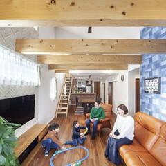 自然素材/無垢材/健康住宅/子育て世代/家づくり/アローズホーム/... . ~家族みんなの笑顔が集まる  吹抜け…