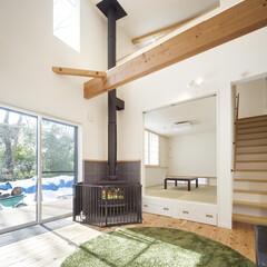 自然素材/無垢材/無垢杉の床/完全自由設計/注文住宅/耐震等級/... 東京都東村山市の工務店 《完全自由設計の…