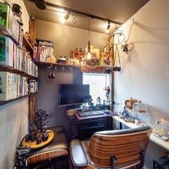 自然素材/無垢材/多摩の杜/八国の杜/アローズホーム/暮らし/... . ~ご主人の夢が叶った書斎は  趣味の…