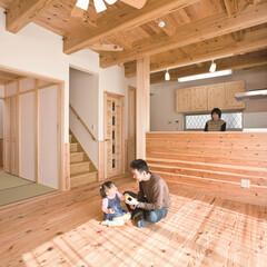 自然素材/無垢材/無垢杉の床/健康住宅/アレルギー対策/アローズホーム/... 東京都東村山市の工務店 《完全自由設計の…
