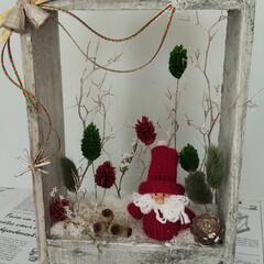 クリスマス/アレンジメント/インテリア/雑貨 フラワー&クラフトのサークルで作ってきま…