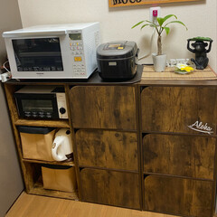 カラーボックスdiy/カラーボックスアレンジ/DIY収納/キッチン収納/キッチン雑貨/DIY/... カラーボックスで食器棚!!