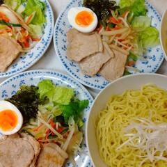 茎ワカメ佃煮/豚ロース肉/つけ麺