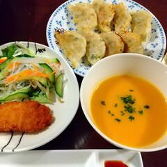 秋味/クリーミー/かぼちゃスープ/バターナッツかぼちゃ/餃子