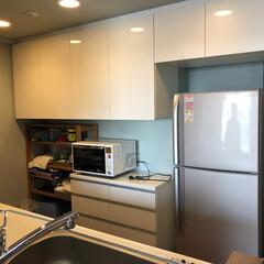 カップボード/キッチン収納/オーダーカップボード/オーダー食器棚/食器棚 オーダーカップボードです。冷蔵庫上までし…